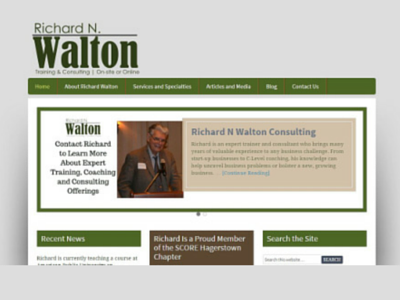 Richard N. Walton Consulting Website