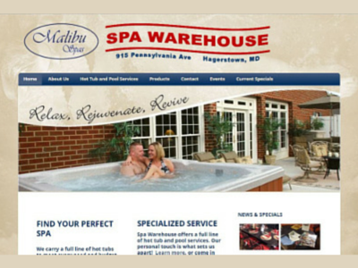 Spa Warehouse Website