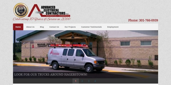 Advanced Electrical Contractors Website
