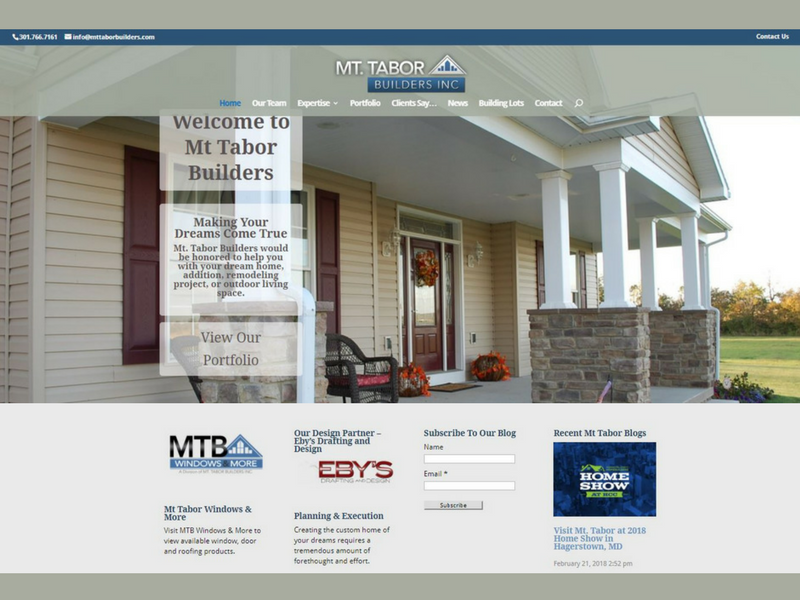 Mt Tabor Builders New Site