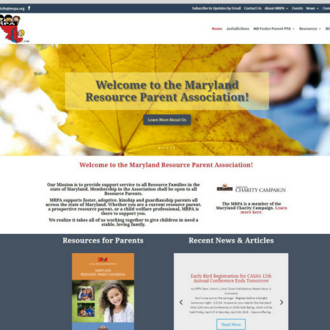 Maryland Resource Parent Association - Redesign